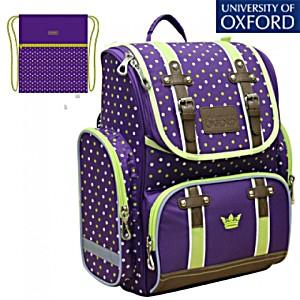 Школьный рюкзак Oxford Оксфорд фиолет/зел 1074-OX-136 + мешок для обуви