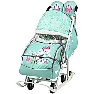 Санки коляска Ника Disney Baby 2 Микки Маус мятный