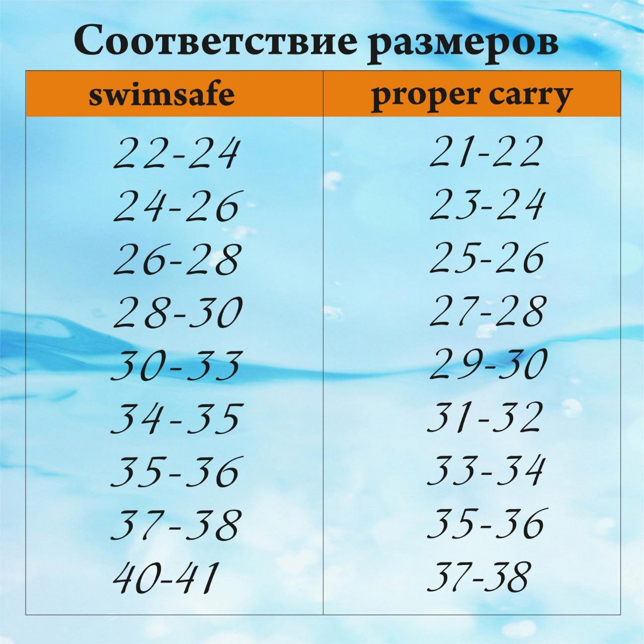 Детские ласты для плавания Proper Carry Super Elastic размер 21-22, 23-24, 25-26, 27-28, 29-30, - фото 8